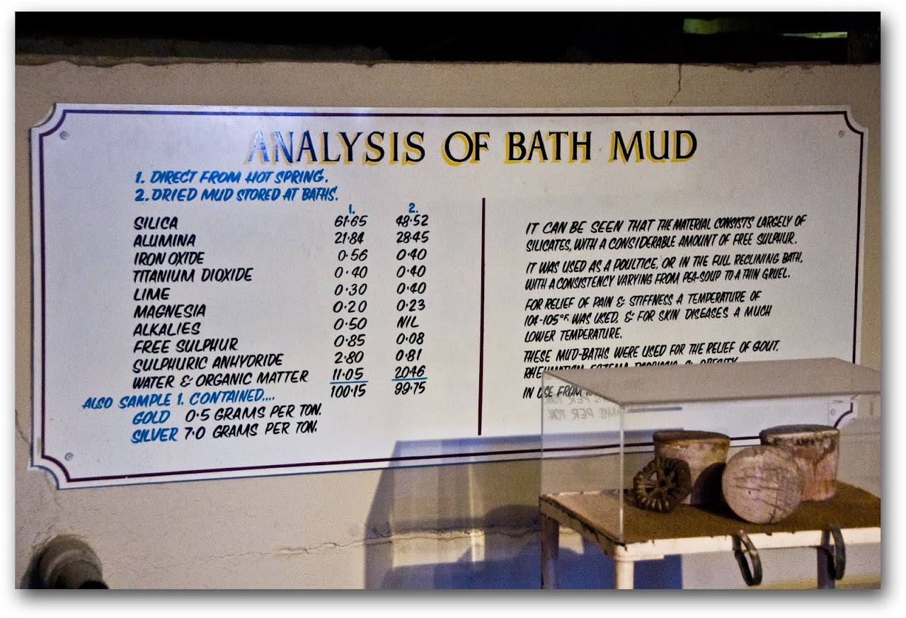 Mud bath analysis at Rotorua Museum