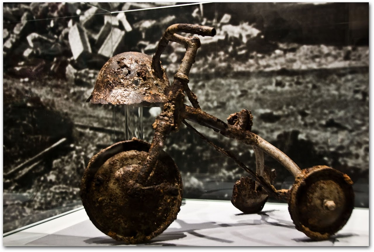 Remnants of a tricycle at Hiroshima