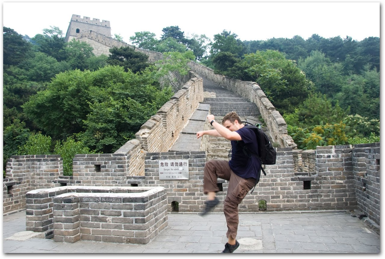 Kicking on the Great Wall