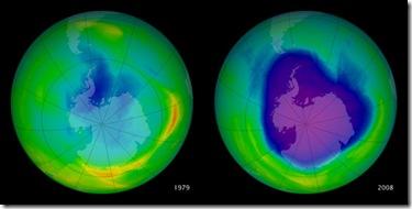 ozone hole 1979-2008