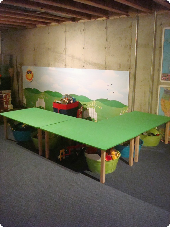 DIY train tables
