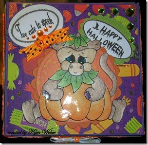 Miki Dressed as a Pumpkin