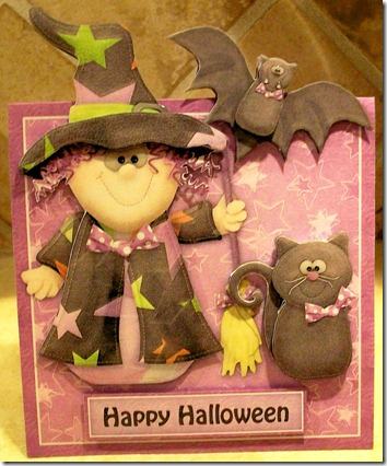 Witchy Wanda Over the Edge Halloween Card