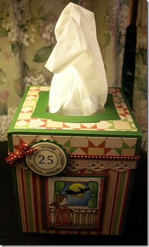 Santa in the Window Tissue Box Cover1