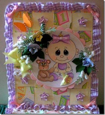 Baby Girl Easel Gift Box Card1