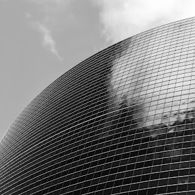 333 by Brian Arnold - Buildings & Architecture Office Buildings & Hotels ( curve, reflection, b&w, illinois, 333 whacker, chicago )