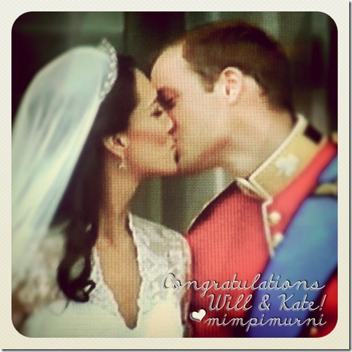 2011 april 29 will & kate's first kiss