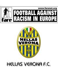 MANCINELLI alla 100^ presenza in gialloblù contro la CREMONESE! Verrà premiato con la consegna di una maglia speciale.L'HELLAS VERONA ADERISCE ALL'ASSOCIAZIONE FARE (Football Against Racism in Europe). L'obiettivo è sensibilizzare l'opinione pubblica sui temi dell'omofobia e della discriminazione di genere. Il blog BONDOLA/=\SMARSA supporta l'associazione da tempo, troverete ulteriori informazioni andando sull'apposito sito: www.farenet.org o clickando sul logo che trovate sotto la chat, vicino alle statistiche di questo blog.ALLENAMENTO DI IERI: Esercitazioni sul possesso palla e sulla tattica, per terminare con partitelle a tema. Terapie per Garzon, Hurme, Scapini e PUCCIO.REMONDINA 'Pronti nelle situazioni decisive. All'andata noi abbiamo giocato, loro hanno vinto: dovremo essere più maturi. Contento del mercato non c'è stato molto tempo a disposizione ma abbiamo rafforzato la squadra nei punti cardine. Non esistono problemi di abbondanza, a far la differenza tra i giocatori saranno le motivazioni'.CECCARELLI 'Poche chiacchiere e pedalare. Vincendo domenica daremmo un segnale importante anche alle altre rivali'