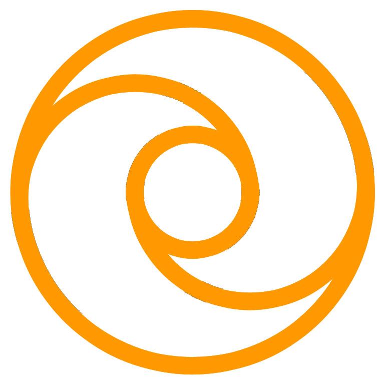 Symbol Of Active Non Violence Orange On White Original Concept