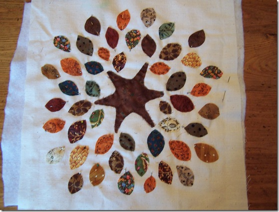 how to make fall tree leaves table toppe