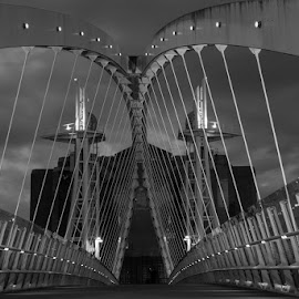 bridge  by Shakir Sharif - Buildings & Architecture Statues & Monuments ( uk, black and white, d7100, nikon, manchester )