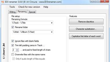 Free MP3 ID3 Tag Renamer
