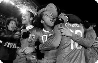 Celebrando penalti de Cuau