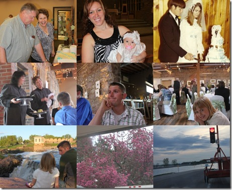 Anniversary party weekend collage for blog