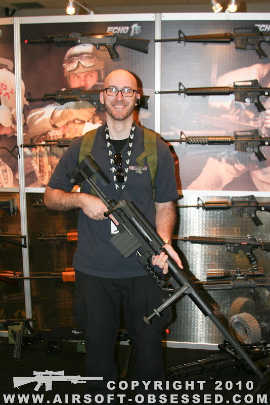 Airsoft Guns, Shot Show 2011 Coverage, Las Vegas, Jag Precision, SOCOM Gear Cheytac M200 Intervention Airsoft Sniper Rifle, Gas-powered Airsoft sniper rifle,Airsoft sniper rifle, gas sniper rifle,m200,Pyramyd Air, Pyramyd Airsoft Blog, Airsoft Obsessed, Airsoft Blog,