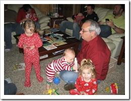 Avery, Reid, Annabelle & Grandpa, Dec. 2009