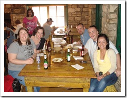 Mmm...Salt Lick... Michele, Jenny, Jer, G and Mariana