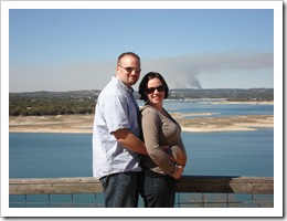 Jer, Me, my belly and a smoke signal.