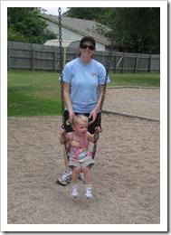 Jenny & Avery at the park, 5-23-09