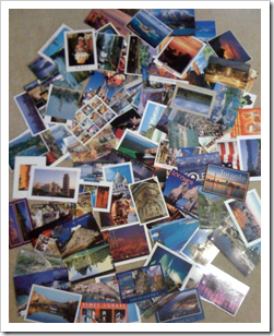 My stash of postcards...probably 100 or so...
