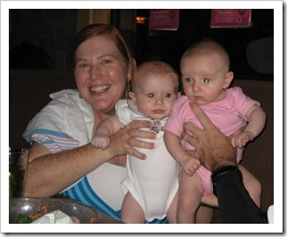 The girls!  Susan & Ava, Raquel, 7-10-09