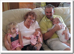 Annabelle, Grandma, Carly, Jer and Reid