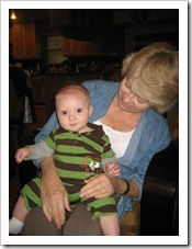 Gran giving Reid some love 10-9-09