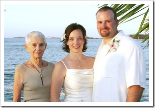This pic is nearly four years old but it is one of my favorites of us with Gramma. 11-05-05