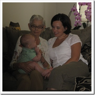 Reid, Gramma and me, 9-11-09