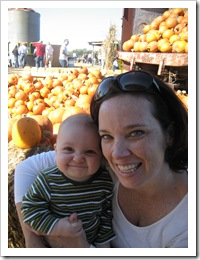 Momma's little pumpkin is laughing at Daddy 10-24-09