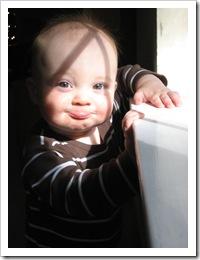 Reid's funny face, 12-9-09