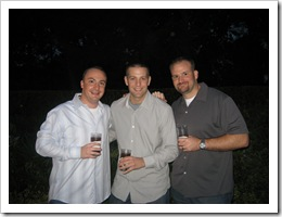 G, Dan & Jer - Cocktail party at Mariana's sister's home the first night, 11-8-09