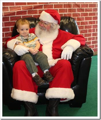 Reid likes Santa!