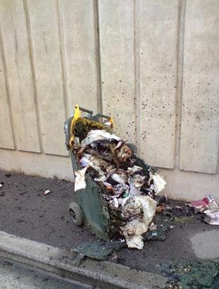 burned paper bin