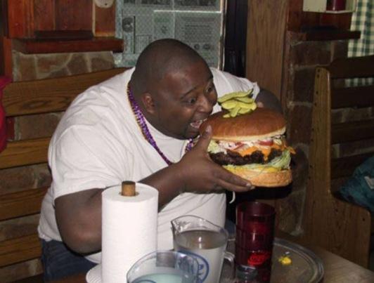 fat guy big burger
