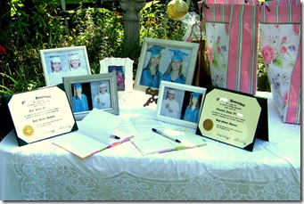 Graduation Reception Table