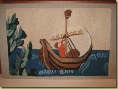 Tapestry 5.2009Detail The Otter and the Swan 003