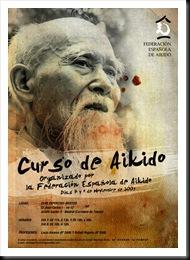 Cartel del curso de aikido