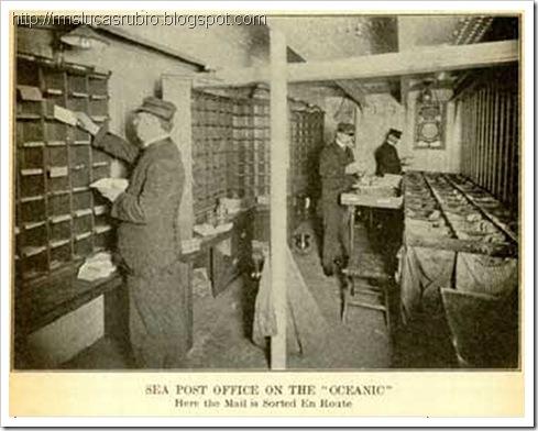 Estação do correio a bordo do Oceanic