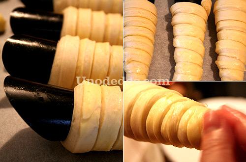 Cañas de hojaldre a la crema de cítricos