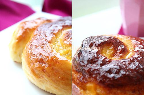Caracolas de crema y buttermilk