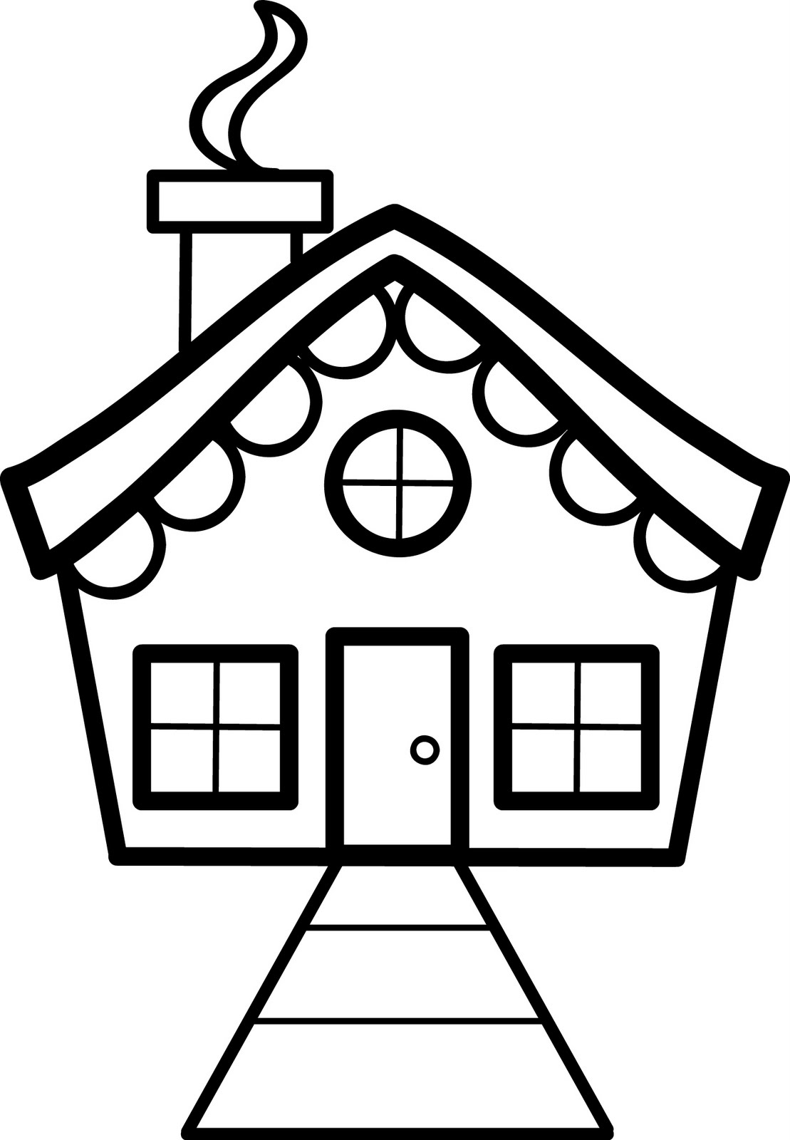 coloring pages house - simple house coloring pages