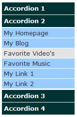 JavaScript & DHTML Animated Accordion Menu