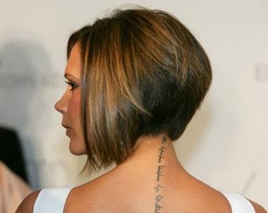 Victoria Beckham Tattoo, celebrity private tattoo