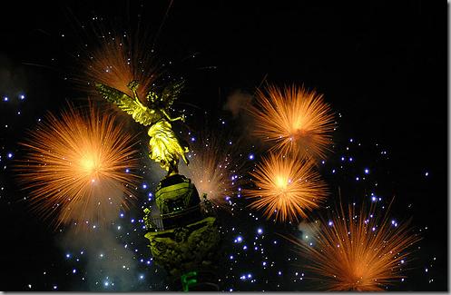 Angel de la Independencia en Año Nuevo