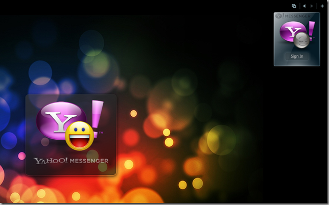 Yahoo Messenger for Vista Sign In Animation + Windows Gadget Companion