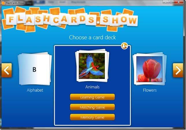 FlashCards.Show Screenshot