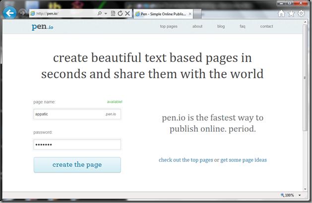 pen.io site screenshot
