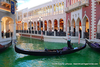 Gondolier showing off Venetian Canals Dyed Green for Saint Patrick's Day.