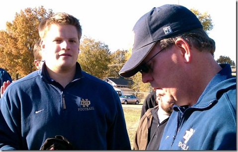 Kyle and Coach Day - QND defensive line coaches
